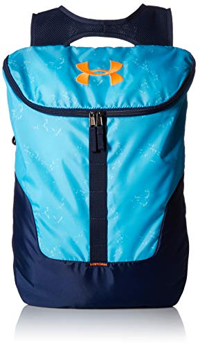 - Under Armour Expandable Sackpack, Venetian Blue (448)/Magma Orange, One Size