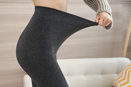 Yulaixuan Femmes Opaque Coton collants Polaire Doublé Collants Laine Épais collants chaud pantalon Villi Leggings