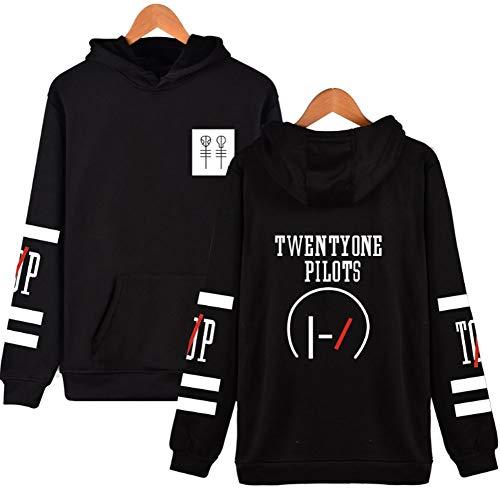 SQWT Unisex Hoodie Pullover Sweater Coat Jacket (M, Black)
