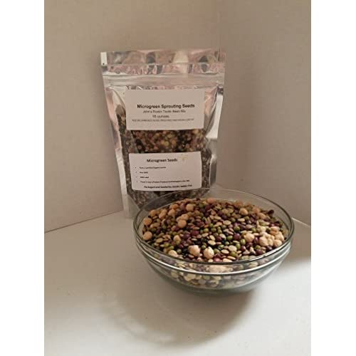 """Wholesale """"COOL BEANS n SPROUTS"""" Brand Bean Mix Sprouting Microgreen Seeds, John's Rootin Tootin Bean Mix ,1lb Bag, Jacobs Ladder Ent. Brand. A small town family run USA business.Thank you ! hot sale"""