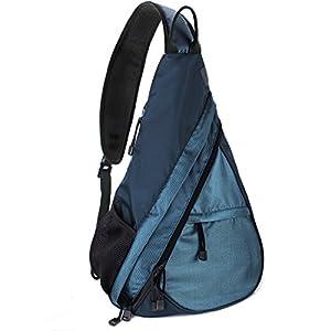 Shoulder Chest Crossbody Sling Bag Pack Backpack for Men Women Girls Boys (Blue)