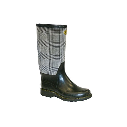 Botas in gomma - 768-rbrfabric2u Grey-Black