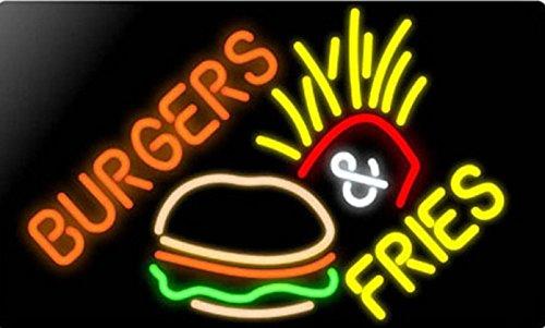 Burger Fries Neon Sign 20