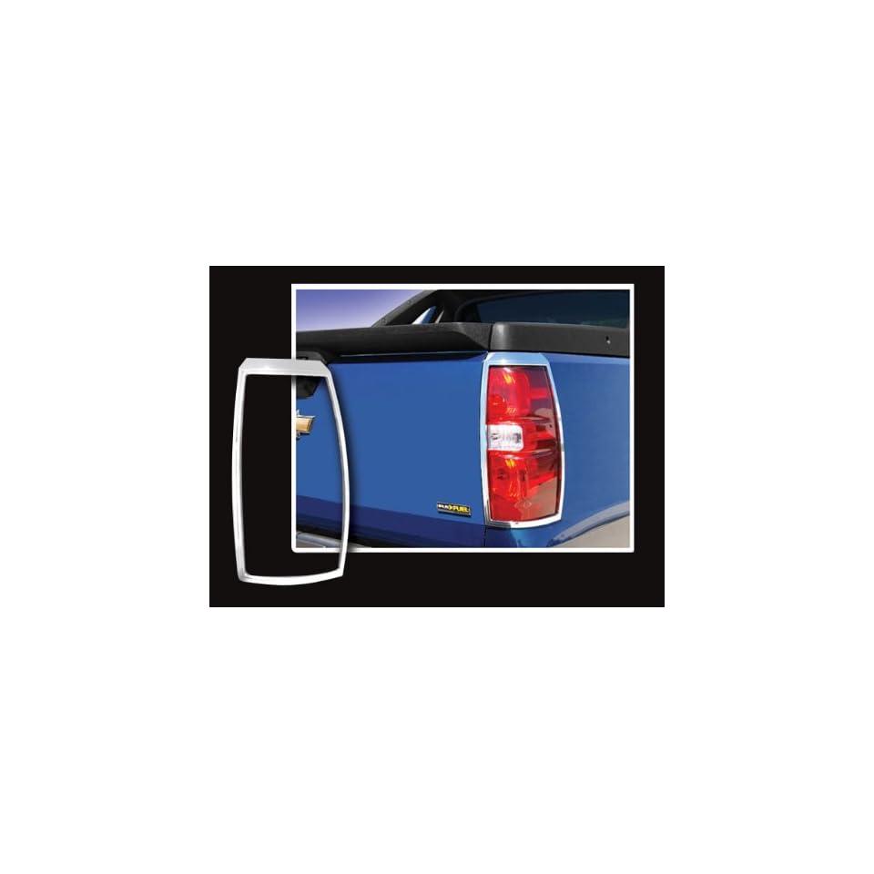 2007 2011 Cadillac Escalade EXT 2pc Chrome Tail Light Covers