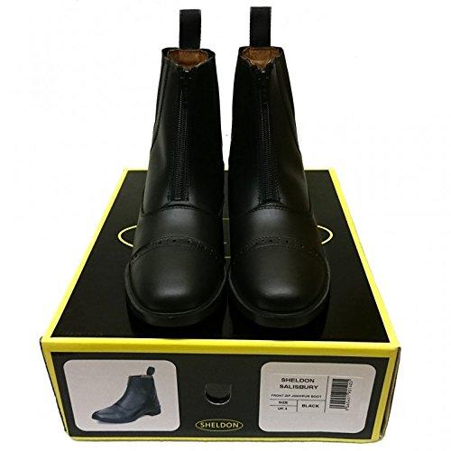 marrón delantera Jodhpur Marrón equitación cremallera cuero Sailsbury negro equitación de botas botas Sgq4nwxH