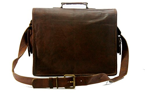 Handmade World Messenger Bag Leather Laptop Bags Computer Satchel Briefcase Unisex(15 Inch) by Handmade_World (Image #5)