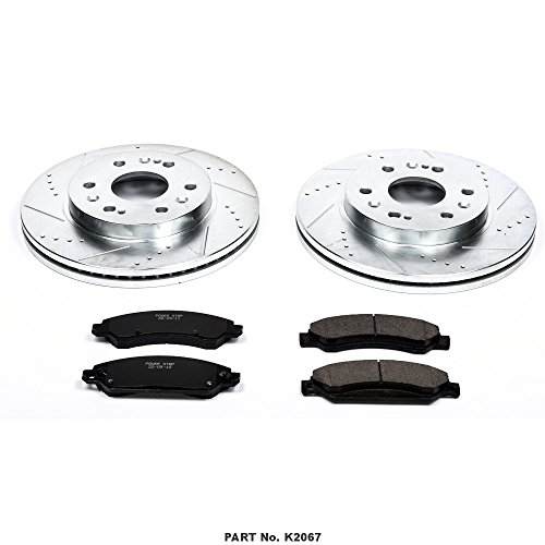 Power Stop K2067 Front Z23 Evolution Brake Kit with Drilled/Slotted Rotors and Ceramic Brake Pads by Power Stop (Image #1)
