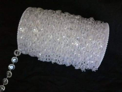 - 99 ft Clear Crystal Like Beads by the roll - Wedding Decorations - 4 Rolls great idea for Wedding Chandeliers Centerpieces Decorations and any Event Party Décor