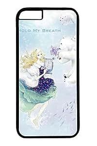 Anime Girl With Polar Bear Cute Hard For SamSung Galaxy S6 Case Cover Case PC Black Cases