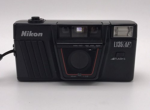 Autofocus 1 Flash (Nikon L135 AF Auto Focus Fully Automatic Flash 35mm Film Camera w/ 35mm 1:3.5 Lens w/ASA/ISO 100-400-1000 Option)