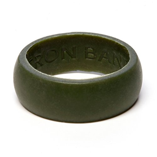 (Iron Band Quality Men's Rubber Silicone Wedding Bands for an Active Lifestyle... (Hunter Green, Medium (8-9)))