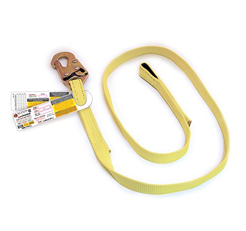 """Super Anchor Safety 6014 Web Lanyard with Snaphook & Loop End, 72"""""""