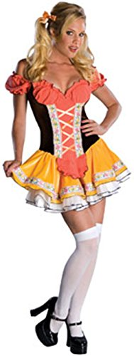 Swiss Sweetie Beer Wench Oktoberfest bar Maid Womens Sexy Halloween Costume (Fantastic 4 Spandex Costume)