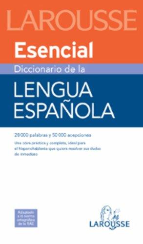 Diccionario esencial de la lengua espanola/ Essential Dictionary of Spanish Language (Spanish Edition) [Jordi Indurain Pons] (Tapa Blanda)