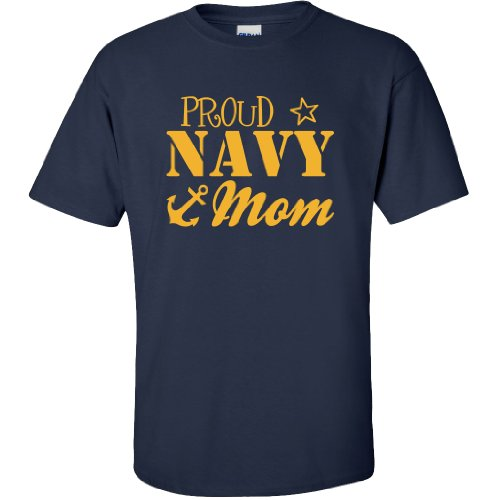 - Proud Navy Mom Short Sleeve T-Shirt in Navy - Large