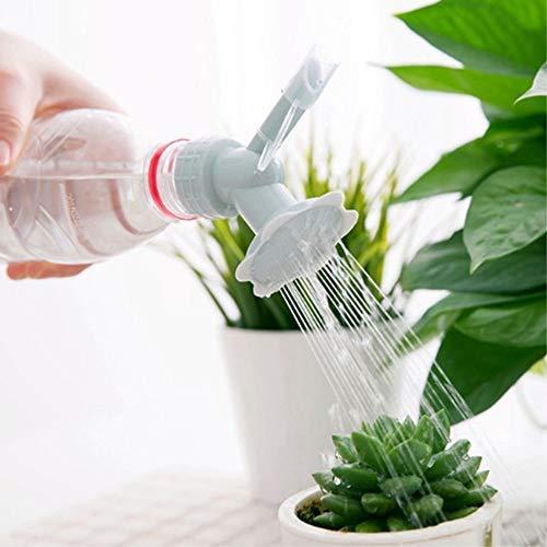 Plant Bottle Watering Spout Bonsai Watering Can Garden Tool Bluecell 2pcs Plastic Dual Head Bottle Cap Sprinkler