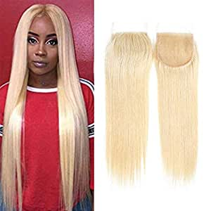 amazon com 613 hair with closure transparent lace