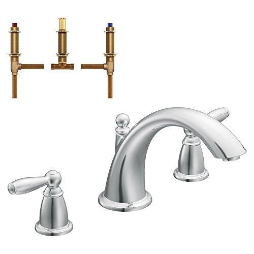 Moen KRTBR-D-T933CR Brantford 8-1/8-Inch Roman Tub Faucet, (Bathroom Faucets Roman Tub Finial)