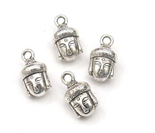 pieces Reversible silver Buddha charms product image