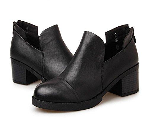 scarpe scarpe ascensore la signora primavera e autunno signora signora spessore scarpe col tacco alto retrò scarpe singolare femminile rotonda , US6.5-7 / EU37 / UK4.5-5 / CN37