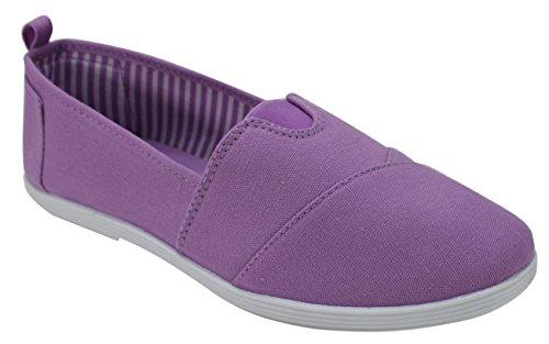 Take A Walk Canvas Slip-On for Women 8 Lavender