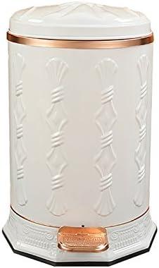 Wghfwx Bote de Basura de Tipo Pedal con Tapa Caja de residuos de hogar Retro Chino Caja de Alto Grado Decorativo (Porcelana Blanca) 10L: Amazon.es: Hogar