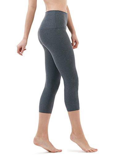 Tesla TM-FYC32-HCC_X-Large Yoga Pants High-Waist Tummy Control w Hidden Pocket FYC32
