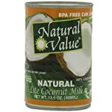 Natural Value Lite Coconut Milk 36x 13.5OZ