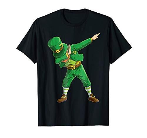 Dabbing Leprechaun Shirt St Patricks Day Women Men Funny Tee