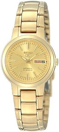 Amazon Com Seiko Women S Syme46 Seiko 5 Automatic Gold Tone Stainless Steel Bracelet Watch Seiko Watches