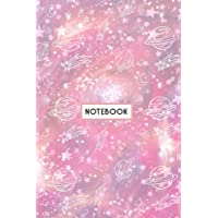 """Notebook: Pink Galaxy Constellations Planets Sky Notebook (Composition Book, Journal, Diary) (6.14"""" x 9.21"""")"""