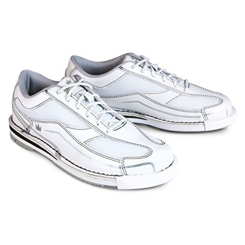 White Brunswick Team Bowling Shoe White Silver Womens FXddwq