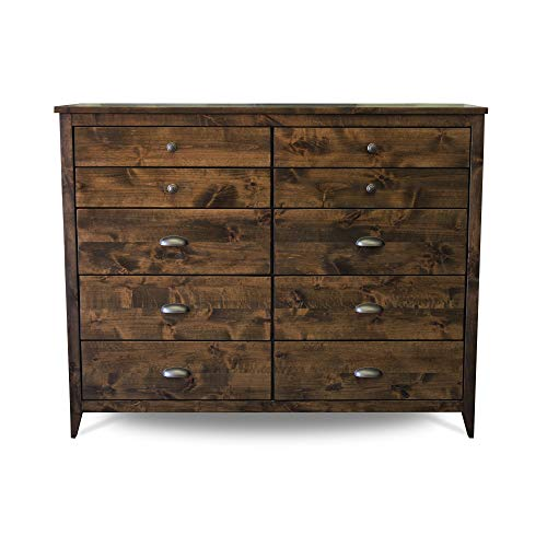 Solid Wood Rustic Dresser   Home & Living   Bedroom Furniture   Rustic and Modern Chest of Drawers   Wood Bedroom Furniture   Simple Dresser