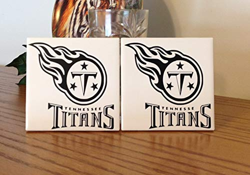 Titans Tennessee Ceramic - Tennessee Titans ceramic tile coasters (set of 2)