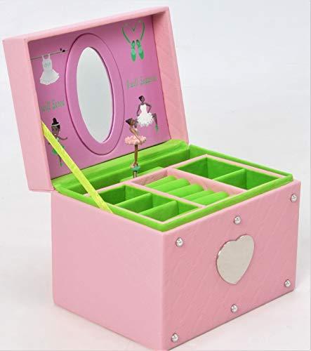 Girly Girl Princess Ballerina - African American Beauty - Musical Jewelry Box (Pink/Green) ()
