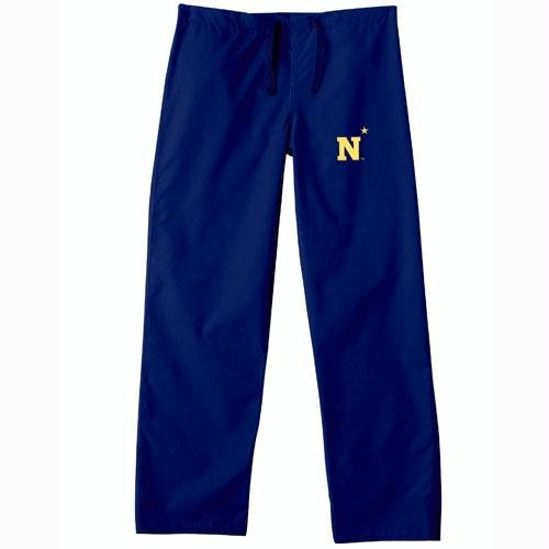 Navy Midshipmen NCAA Classic Scrub Pant (Navy) (Small) by Gelscrubs