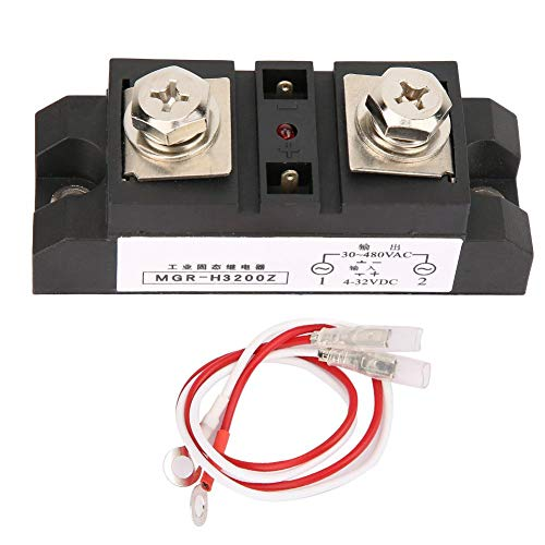 MGR-H3200Z General Purpose Relay,3-32V DC / 24-380V AC AC Solid State Relay and Heat Sink