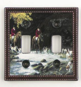 York  Wallcovering FOX HUNT Horse Switch PLATE cover home decor foxhunt