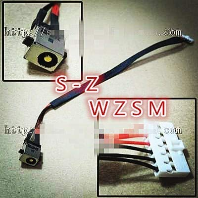 computer cables ac dc power jack socket in cable with wire harness for asus  x550 k550