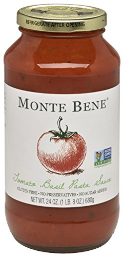 Monte Bene Tomato Basil, 24-Ounce Glass Jars (Pack of 6) by Monte Bene