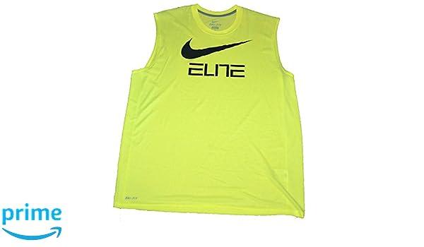 df34c5d4ad4ed Amazon.com  NIKE New Men s Qt Sleeveless Elite Graph Shirts Bright Green  658469 702 XL  Sports   Outdoors