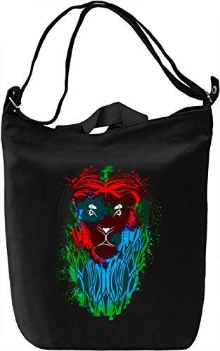 Colourful Lion Borsa Giornaliera Canvas Canvas Day Bag  100% Premium Cotton Canvas  DTG Printing 