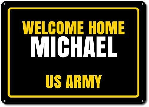 - ERVZ Welcome Home Sign, Custom Us Army Sign, Soldier Sign, United States Army Soldier, Family Name Sign, Army Decor - Novelty Aluminum Ensa1000101-7.8inch11.8inch Metal Tin Sign
