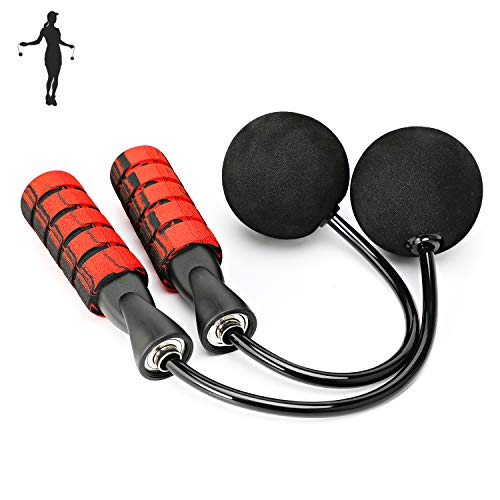 APLUGTEK Jump Rope, Training Ropeless Skipping Rope for Fitness, Adjustable Weighted Cordless Jump Rope for Men Women…