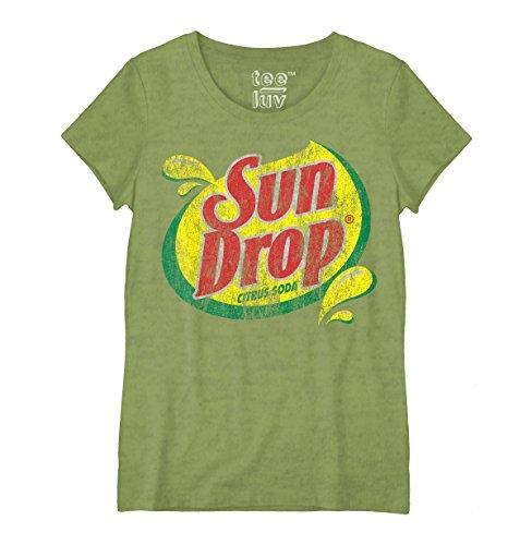 Sun Drop Citrus Soda Logo Juniors T-Shirt-Large (Logo Drop)
