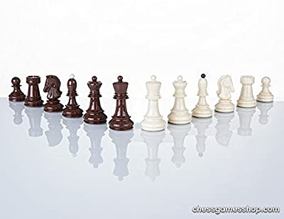 Dubrovnik Zagreb chess pieces - Plastic,, Standard size, Weighted Chessmen