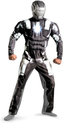 War Machine Marvel Costume (Disguise Marvel Men's War Machine Classic Muscle Adult,Multi,XL (42-46) Costume)