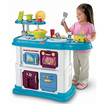 Fisher Price Grow With Me Cook And Care Kitchen Teal