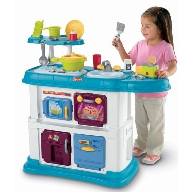 Amazon.com: Fisher-Price Grow with Me Cook and Care Teal ...