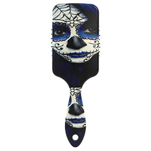 Hair Brush Paddle Brush Guy Sugar Skull Makeup Cushion Brush for All Hair Types Hair Detangler,Decompression,Antic Static Natural Shine]()